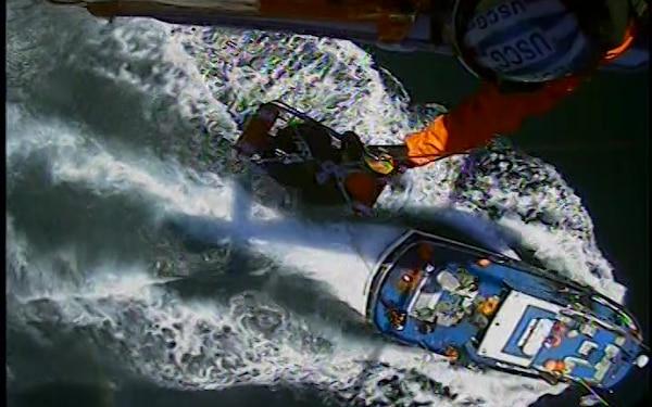 Coast Guard medevacs man from fishing vessel near Newport, OR