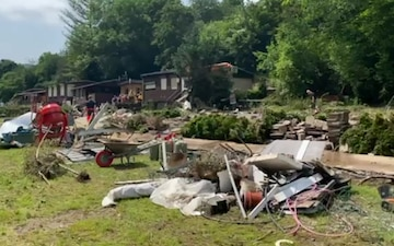 52nd FW volunteers aid local community after floods