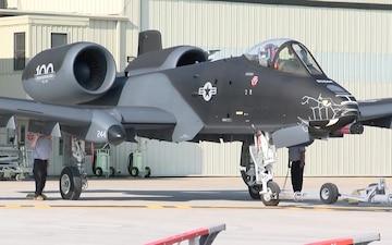 ANG paint facility finishes Blacksnake paint on Indiana ANG A-10