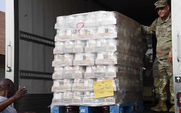 AZNG transport groceries to local citizens and members of the Colorado River Indian Tribes