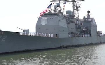 USS Vella Gulf (CG 72) Returns Home after Deployment