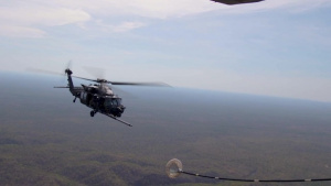 Talisman Sabre 21: Helicopter air-to-air refueling with 160th SOAR (b-roll)