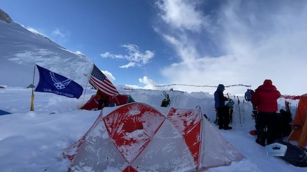 base camp at 14,000 feet