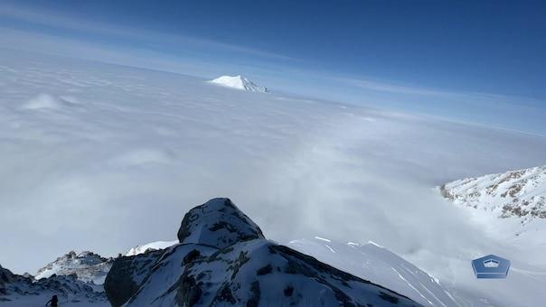 team climbs denali's steep upper west rib