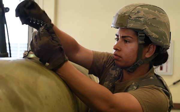Ammo Airmen construct and deconstruct munitions