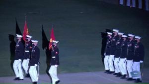 Marines Host Evening Parade
