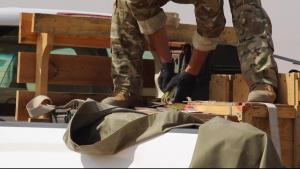 Unused explosives disposed of by EOD team