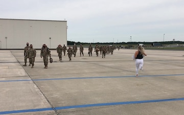 B-Roll: 177th Fighter Wing deployers return home