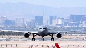 Red Flag 21-3 B-52 Stratofortress take off, KC-46 Pegasus taxing