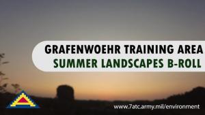 B-Roll Grafenwoehr Training Area Summer Landscapes