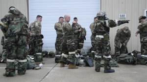 127th Wing stands up mock decontamination line