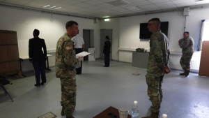 U.S. Army Europe and Africa Best Warrior Competition Uniform Inspection B-Roll