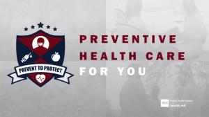 Preventive Health Care for You