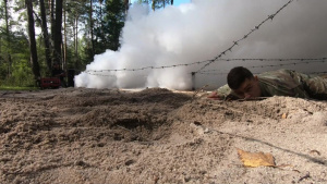 European Best Warrior Competition Obstacle Course, M17 Range, Sled Drag
