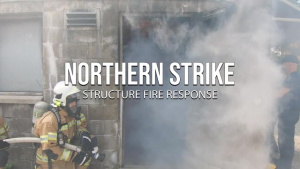 U.S., Latvian, Estonian firefighters conduct structure fire response exercise at Northern Strike 21