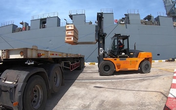 Cobra Gold 21: U.S., Royal Thai Armed Forces receive exercise cargo and equipment