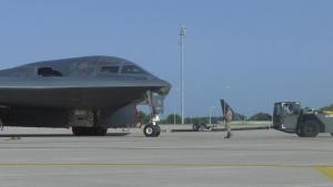 B-2 Spirit crew chief perform their duties for Global Strike Challenge 2021