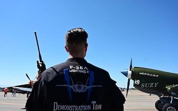 F-35 Demo Team member visits hometown during Warhawk Roundup