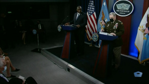 Top Defense, Military Leaders Hold Briefing