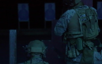 B-Roll - FRP Conducts Night Live Fire Deck Shoot