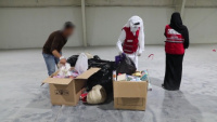 Soldiers Work with Local Organizations to Support Afghanistan Evacuation Efforts in Qatar