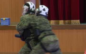 Close-Combat Demonstration at 4th Engineer Group, JGSDF