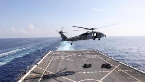 USS Arlington Conducts a Replenishment-at-Sea