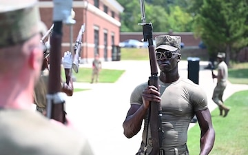 U.S. Air Force Honor Guard hosts U.S. Army Drill Team for joint training