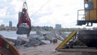 Buffalo Harbor north breakwater repairs, September 2021