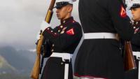 Silent Drill Platoon Visits Hawaii Broll