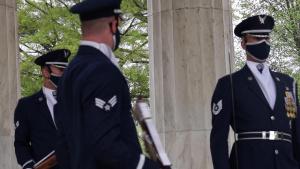U.S. Air Force Honor Guard performs at National War Memorial B-Roll