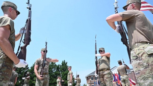 U.S. Air Force Honor Guard hosts U.S. Army Drill Team for joint training B-Roll