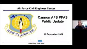September 2021 Cannon AFB PFOS/PFOA Virtual Meeting