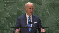President Joe Biden addresses the 76th session of the United Nations General Assembly