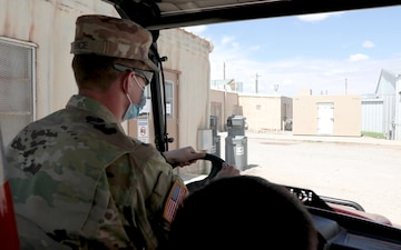 Information center at Fort Bliss' Dona Aña Complex in New Mexico