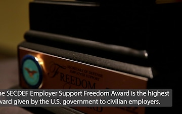 Local business receives 2021 SECDEF Employer Support Freedom Award
