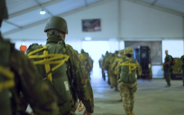 U.S. Army Paratroopers and Paratroopers participate in Exerciese Falcon Leap in the Netherlands