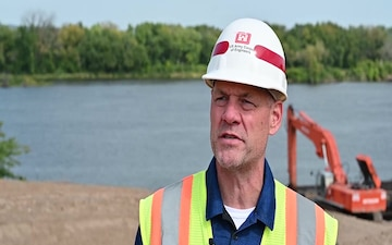 Dredged material lifts development area out of floodplain