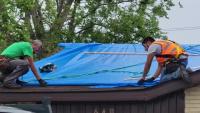Hurricane Ida: Blue Roof installation