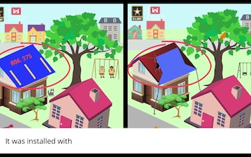 Spotting the difference between USACE and non-USACE-installed blue roofs