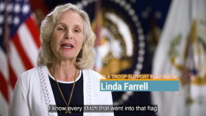 DLA Troop Support Flag Room: A Heritage of Embroidery (open caption)