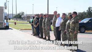 Final KC-46 Arrival at Altus Air Force Base