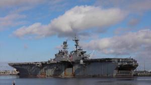 USS Iwo Jima Change of Command Ceremony Flyover