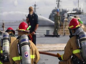 NAVSTA Mayport and USS Detroit (LCS 7) DC Drill