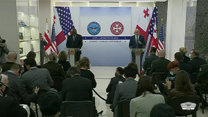 Austin, Georgian Defense Minister Brief News Media