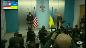 Austin, Ukrainian Defense Minister Brief News Media