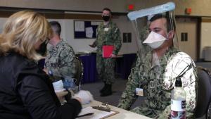 Sailors support Providence Sacred Heart Medical Center