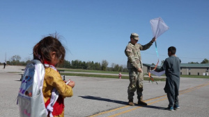 Flying Kites with Afghan Guests