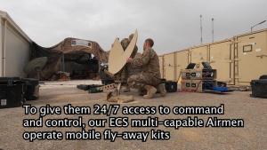 332nd ECS assemble a flyaway kit