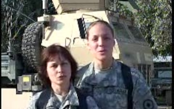 Spc. Cheryl and Brandi Colley and Williams